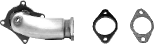 Turboabgangsrohr inkl. Flansch und Dichtung (ohne TÜV) Ersetzt den Vorkatalysator (nur passend für Fahrzeuge mit 147 KW)
