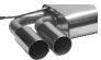 Endschalldämpfer mit Doppel-Endrohr 2 x Ø 76 mm LH