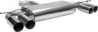 Endschalldämpfer mit Doppel-Endrohr 2 x Ø 76 mm LH + RH