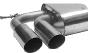 Endschalldämpfer mit Doppel-Endrohr 2 x Ø 76 mm LH, 20 ° schräg geschnitten