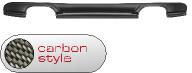 Heckschürzeneinsatz, lackierfähig, mit Auschnitt  für 2 x Doppel-Endrohr LH + RH (Audi A3 8P 3-türer + Sportback 5-türer Facelift ab Bj. 2008 nicht S3 mit orig. Heckschürzeneinsatz), Carbon Style