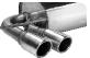 Endschalldämpfer mit Doppel-Endrohr 2 x Ø 76 mm mit Lippe 20° schräg geschnitten