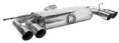 Endschalldämpfer mit Doppel-Endrohr 2 x Ø 76 mm LH+RH