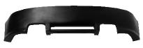Heckschürzen-Ansatz, lackierfähig, mit Auschnitt für 2 x Doppel-Endrohr LH+RH (nur passend für Audi A3/S3 8P 3-Türer)