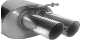 Endschalldämpfer mit Doppel Endrohr 2 x Ø 76 mm Audi A4 6 Zyl. links LH