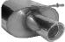 Endschalldämpfer mit Einfach-Endrohr 1 x Ø 90 mm LH