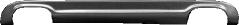 Heckschürzen-Einsatz, lackierfähig, mit Auschnitt für 2 x Doppel-Endrohr LH + RH (nur passend für Audi A4 8E Avant Facelift Modelle)