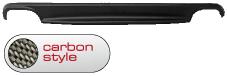 Heckschürzen-Einsatz, Carbon Style, mit Auschnitt für 2 x Doppel-Endrohr LH+RH Audi A4 B8