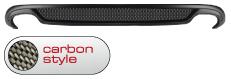 Heckschürzen-Einsatz, Carbon Style, mit Auschnitt für 2 x Doppel-Endrohr LH+RH Audi A4 B8 S-Line