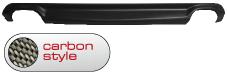 Heckschürzen-Einsatz, Carbon Style, mit Auschnitt für 2 x Doppel-Endrohr LH+RH Audi A5 B8