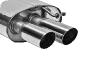 Endschalldämpfer mit Doppel-Endrohr, 20° schräg LH 2 x Ø 76 mm