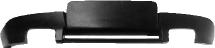 Heckschürzen-Ansatz, lackierfähig, mit Auschnitt für 2x Doppel-Endrohr nur für Fahrzeuge ohne M-Heckschürze