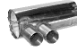 Endschalldämpfer mit Doppel-Endrohr 2 x Ø 85 mm (im RACE-Look)