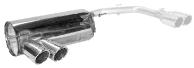 Endschalldämpfer mit Doppel-Endrohr LH 2 x Ø 76 mm eingerollt, 20° schräg