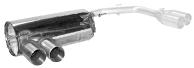 Endschalldämpfer mit Doppel-Endrohr LH 2 x Ø 85 mm (im RACE-Look) nur passend für E82 Coupé mit M-Heckschürze