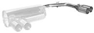 Endrohrsatz mit Doppel-Endrohr RH 2 x Ø 85 mm (im RACE-Look) nur passend für E82 Coupé mit M-Heckschürze