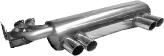 Endschalldämpfer mit 2 x 2 Endrohren Ø 76 mm