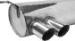 Endschalldämpfer mit Doppel-Endrohr LH 2 x Ø 76 mm 20° schräg geschnitten