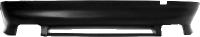 Heckschürzen-Ansatz, lackierfähig, mit Auschnitt für 2x Doppel-Endrohr, nur passend für Fahrzeuge ohne M-Heckschürze – ist bei Montage der Quattro-Anlage mit zu verwenden.