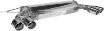 Endschalldämpfer mit Doppel-Endrohr 2 x Ø 76 mm LH + RH, mit Lippe, 20° schräg geschnitten