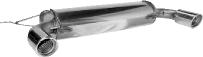 Endschalldämpfer mit Einfach-Endrohr 1 x Ø 90 mm LH + RH, 20° schräg geschnitten