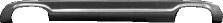Heckschürzenaufsatz, lackierfähig, mit Ausschnitt für 2x Doppel-Endrohr (nicht passend für Fahrzeuge mit Serie M Heckschürze)