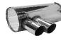 Endschalldämpfer mit Doppel-Endrohr 2 x Ø 76 mm, 20° schräg