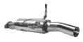 Motorsport Endschalldämpfer mit Einfach-Endrohr (ohne TÜV) 1 x Ø 76 mm RH