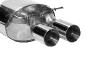 Endschalldämpfer LH mit Doppel-Endrohr 2x Ø 90 mm (im RACE-Look)