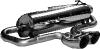 Endschalldämpfer querliegend mit 2 DTM-Endrohren Ø 76 mm Ausgang mittig