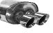 Endschalldämpfer mit Doppel-Endrohr RACE 2 x Ø 90 mm, Ausgang mittig für Mini Cooper S inkl. John Cooper Works JCW