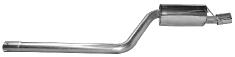 Endschalldämpfer mit Einfach-Endrohr 1 x Ø 90 mm, Ausgang RH