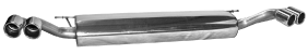 Endschalldämpfer mit Doppel-Endrohr SLASH, 2x Ø 76 mm LH + RH, mit Lippe