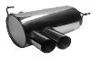 Endschalldämpfer mit Doppel-Endrohr Slash 2 x Ø 76 mm
