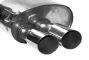Endschalldämpfer mit Doppel-Endrohr Slash 20° schräg 2 x Ø 76 mm LH links