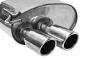 Endschalldämpfer mit Doppel-Endrohr 20° schräg mit Lippe 2 x Ø 76 mm LH links