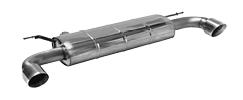 Endschalldämpfer mit Einfach-Endrohr 1x Ø 100 mm LH+RH (im RACE Look), 30° schräg geschnitten, ohne Abgasklappe
