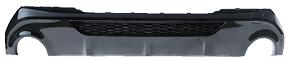 Heckschürzeneinsatz, mit Ausschnitt für 2x Einfach-Endrohr (für Fahrzeuge mit M-Paket)