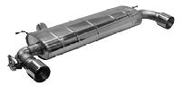 Endschalldämpfer mit Einfach-Endrohr 1xØ 100 mm LH+RH (im RACE Look), für Serienabgasklappe