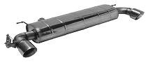 Endschalldämpfer mit Einfach-Endrohr 1xØ 100 mm LH+RH (im RACE Look), 30° schräg geschnitten, für Serienabgasklappe