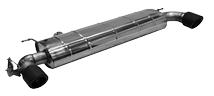 Endschalldämpfer mit Einfach-Endrohr Carbon 1xØ 100 mm LH+RH (im RACE Look), 30° schräg geschnitten, für Serienabgasklappe