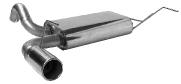 Endschalldämpfer querliegend mit Einfach-Endrohr 1 x Ø 90 mm