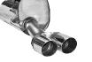 Endschalldämpfer mit Doppel-Endrohr 2 x Ø 76 mm, 20° schräg geschnitten Fiat Grande Punto außer EVO