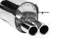 Endschalldämpfer mit Doppel-Endrohr 2 x Ø 70 mm gerade, mit Lippe