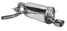 Endschalldämpfer mit Einfach-Endrohr RH 1 x Ø 90 mm, 20° schräg geschnitten