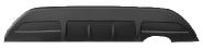 Heckschürzenansatz, lackierfähig, macht ein Ausschneiden der Original Heckschürze unnötig. Für Doppel-Endrohr RH