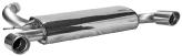 Endschalldämpfer mit Einfach-Endrohr LH+RH 2 x Ø 90 mm