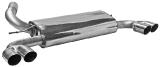 Endschalldämpfer mit Doppel-Endrohren 2 x Ø 76 mm LH+RH 20° schräg geschnitten