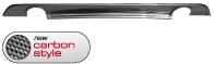 Heckschürzen-Ansatz, mit Auschnitt für Einfach-Endrohr LH + RH, Carbon Style