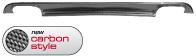 Heckschürzen-Ansatz, mit Auschnitt für Doppel-Endrohr LH + RH, Carbon Style